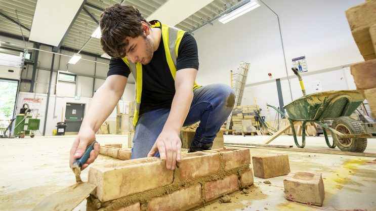 Bricklaying at Andover College