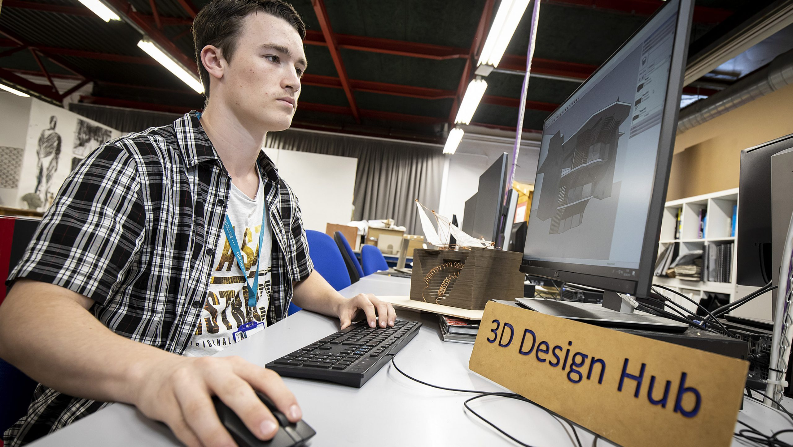 3D Design Student at Andover College