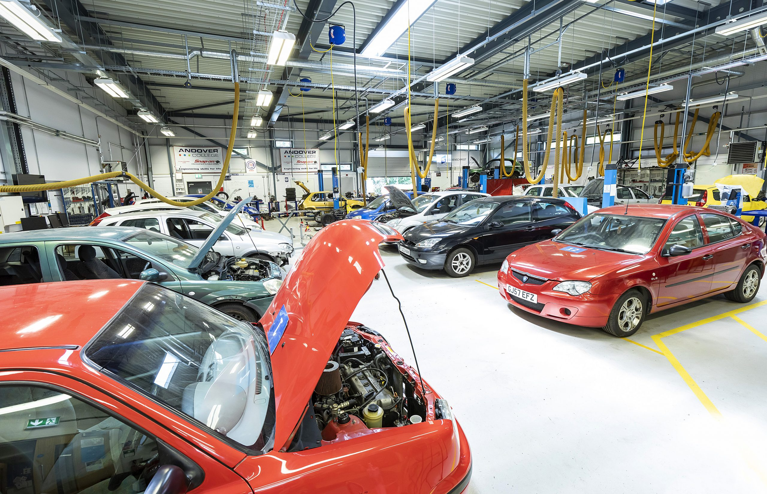 Motor Vehicle Workshop at Andover College