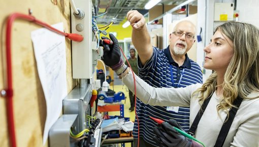 Electrical Class at Andover College