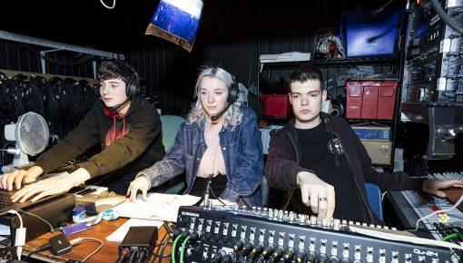 Andover students using the recording studio