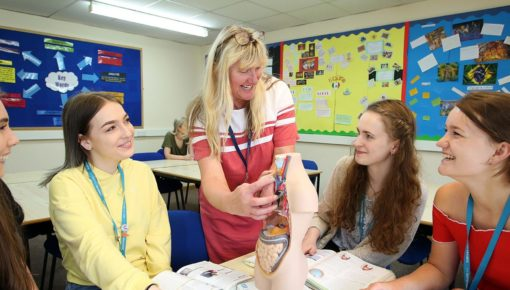 Health and Social Care lesson at Andover College